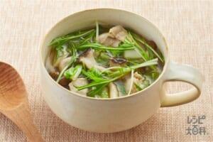 2種のきのこと水菜のおかずスープ