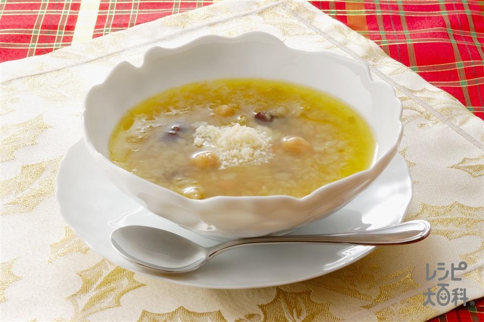 キャベツと豆のスープ(キャベツ+ミックスビーンズを使ったレシピ)
