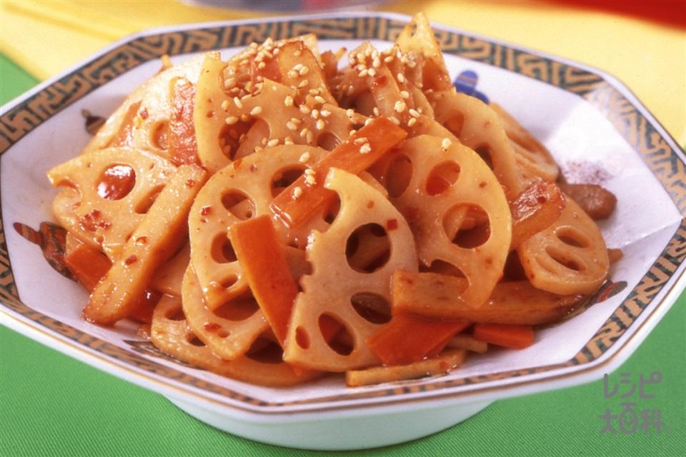 中華風レンコンのきんぴら(れんこん+にんじんを使ったレシピ)