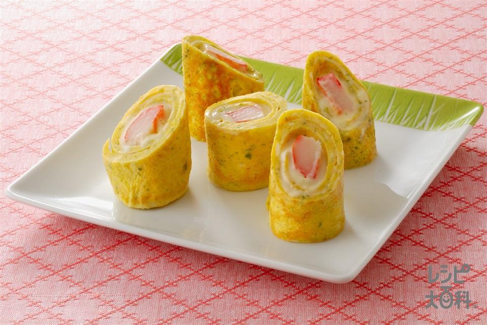 チーズinうず巻き卵(卵+スライスチーズを使ったレシピ)