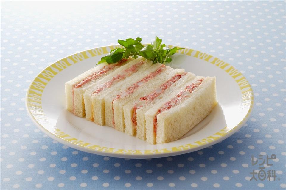 コンビーフサンド(コンビーフ缶+サンドイッチ用食パンを使ったレシピ)