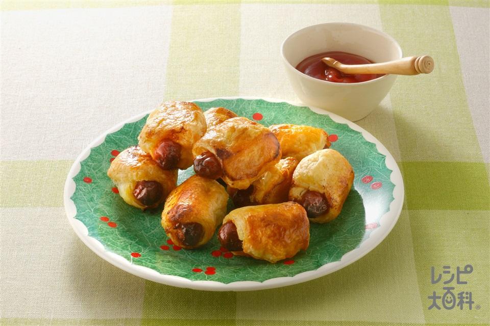 ソーセージパイ(ミニウインナーソーセージ+溶き卵を使ったレシピ)
