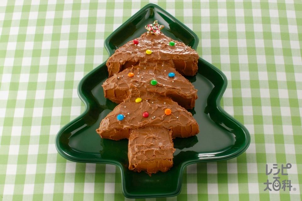 ツリーチョコレートケーキ(薄力粉+黒砂糖を使ったレシピ)