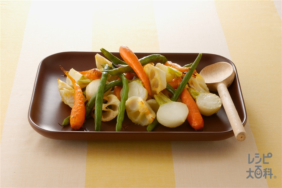 根菜のロースト(かぶ+れんこんを使ったレシピ)