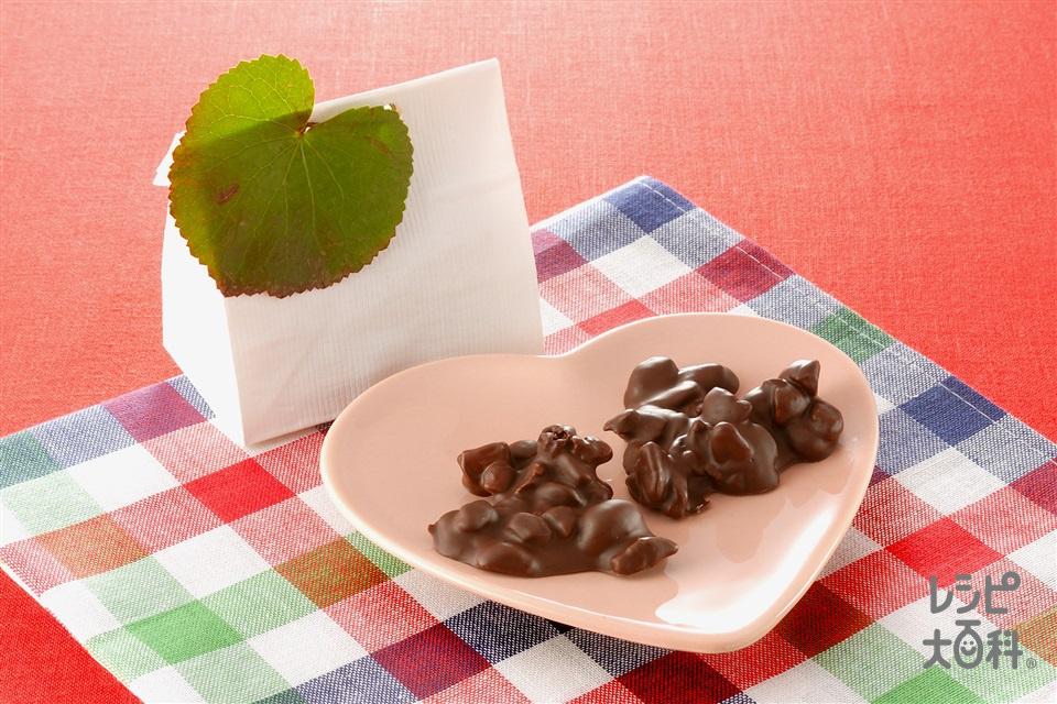 レーズンナッツチョコ(マカダミアナッツ+ペカンを使ったレシピ)