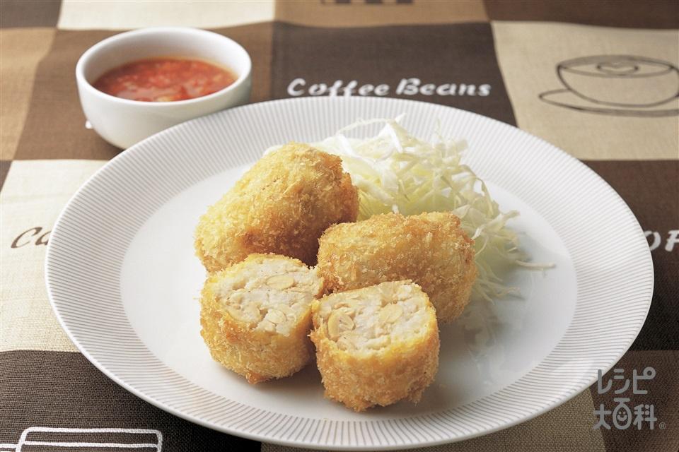 大豆コロッケ(じゃがいも+Aゆで大豆を使ったレシピ)