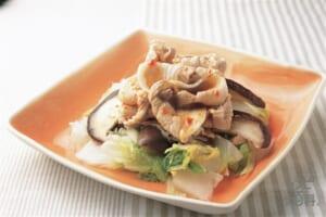 豚ばら肉と白菜のホットサラダ