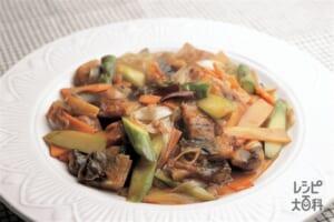 うなぎと野菜のピリ辛炒め