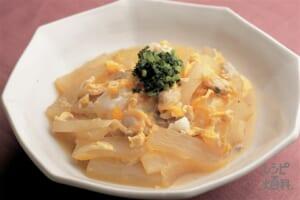 大根とあさりの卵とじ煮(あさり(殻つき)+大根を使ったレシピ)