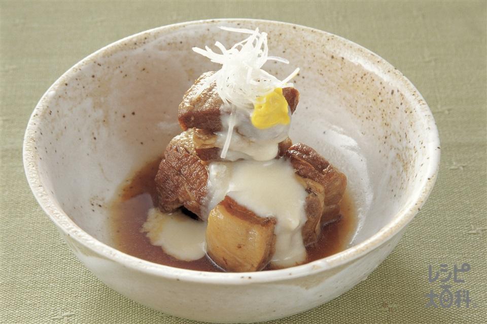 豚の角煮 ゆり根あん(豚バラ肉+砂糖を使ったレシピ)