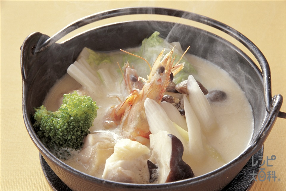 クリームチーズ鍋(鶏肉+酒を使ったレシピ)