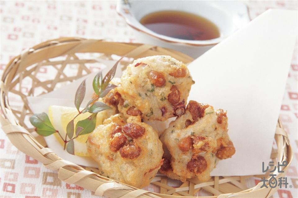 納豆和風たこ焼き(大和いも+たこを使ったレシピ)