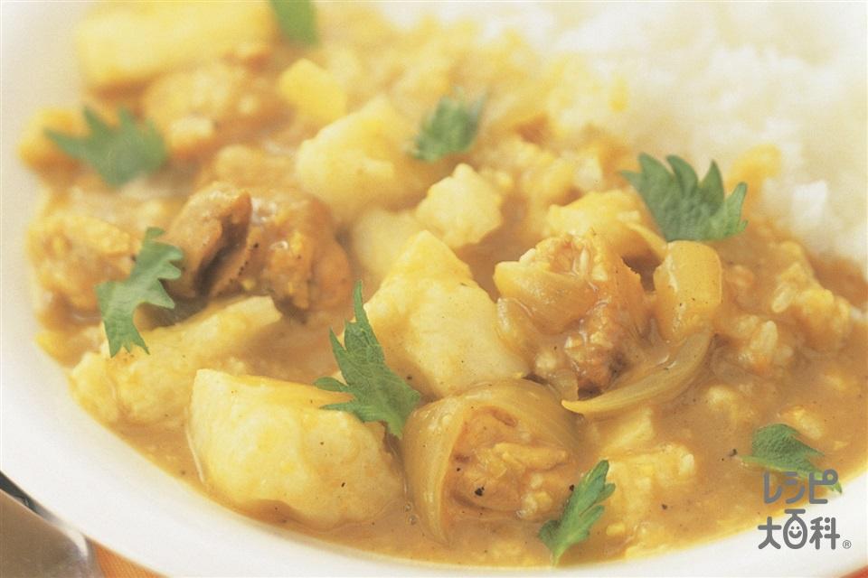 長いもとチキンペッパーカレー(鶏もも肉+玉ねぎを使ったレシピ)