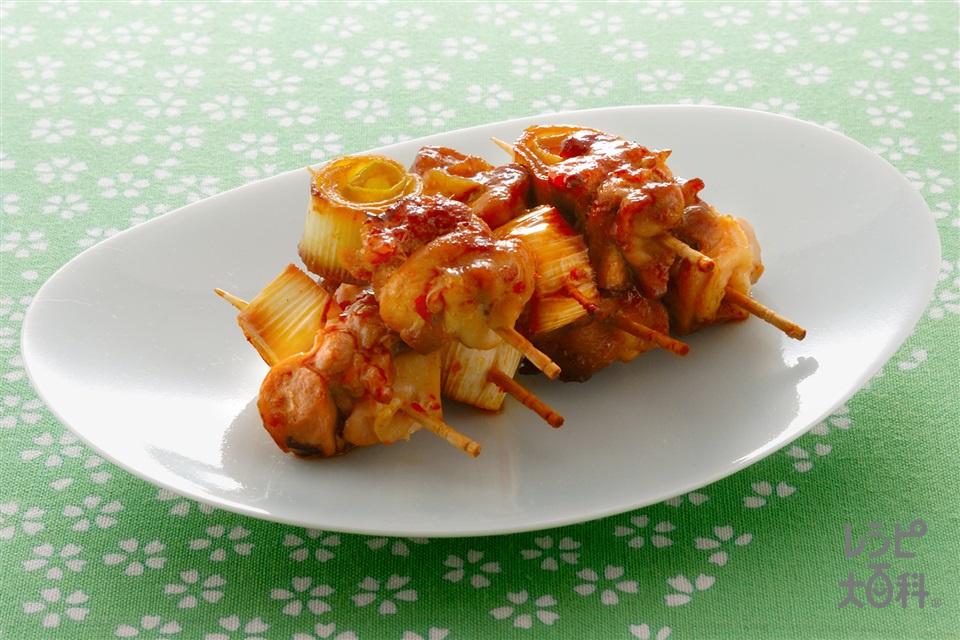 ミニ焼き鳥(鶏もも肉+ねぎを使ったレシピ)