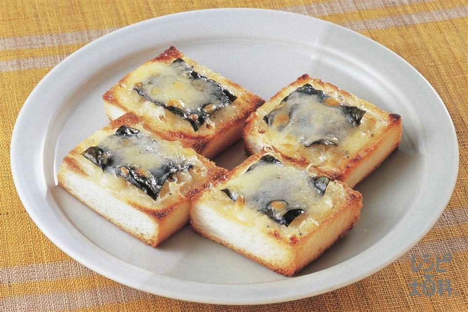 じゃことのりのチーズトースト