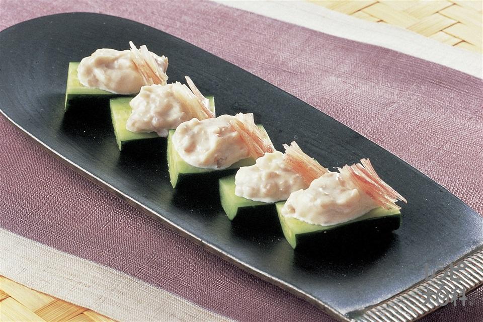 梅マヨのきゅうりボート(きゅうり+梅干しを使ったレシピ)