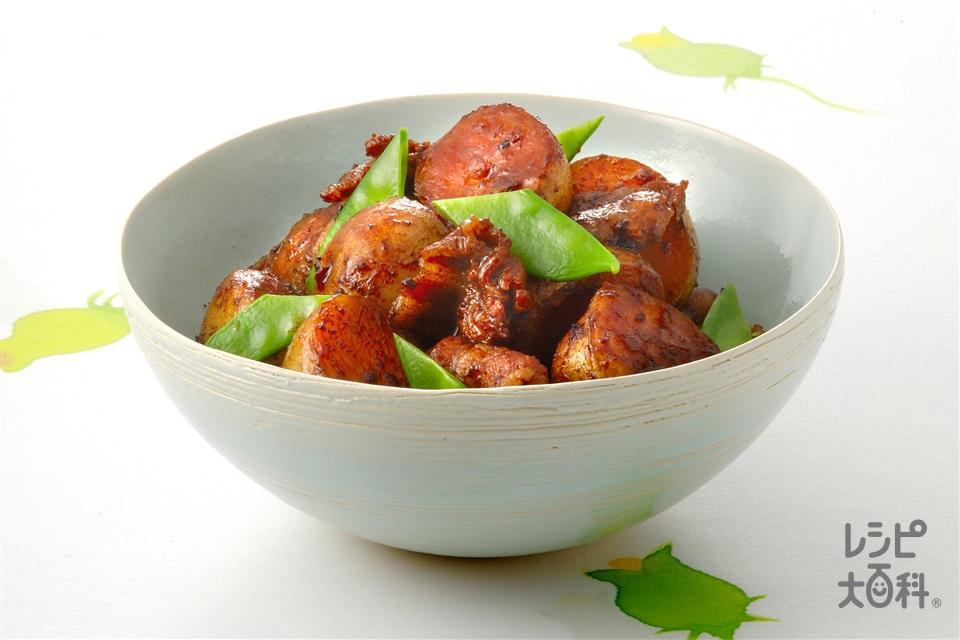 新じゃがと豚肉の照り煮(新じゃがいも+豚バラ薄切り肉を使ったレシピ)