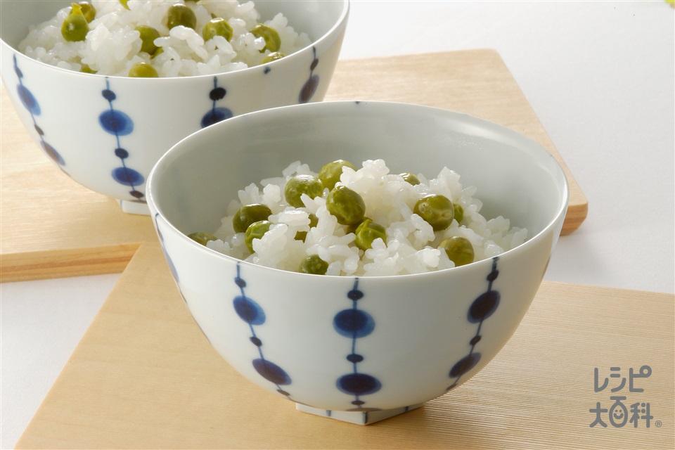グリンピースご飯(米+グリンピースを使ったレシピ)
