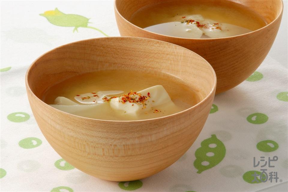 すくい豆腐のみそ汁(おぼろ豆腐を使ったレシピ)