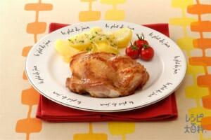 鶏もも肉のソテー&じゃがいものレンジ蒸し