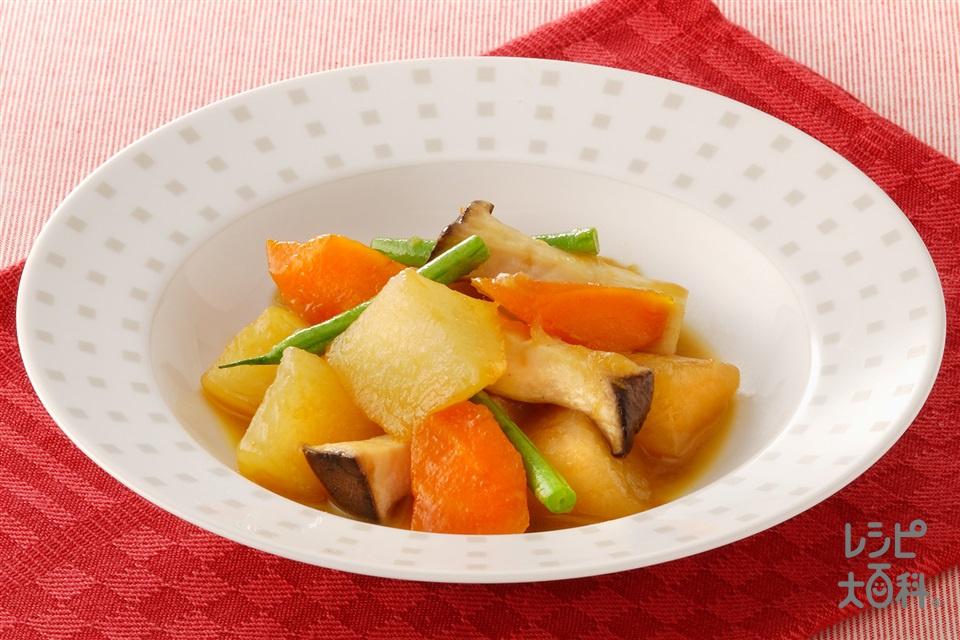いろいろ野菜のキャラメル煮(大根+にんじんを使ったレシピ)