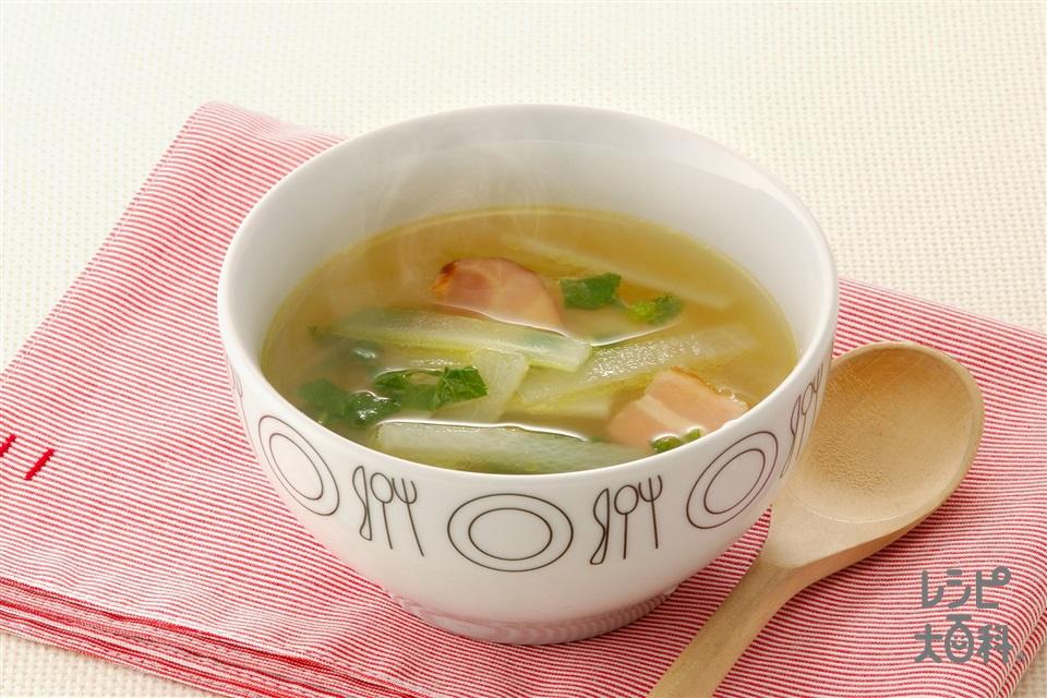 大根とセロリのスープ
