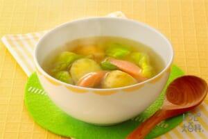 新じゃがとキャベツのおかずスープ
