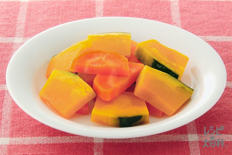 キャロット&パンプキンのレモン煮(かぼちゃ+にんじんを使ったレシピ)