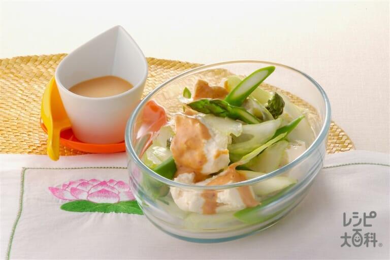 豆腐とセロリの中華マヨサラダ