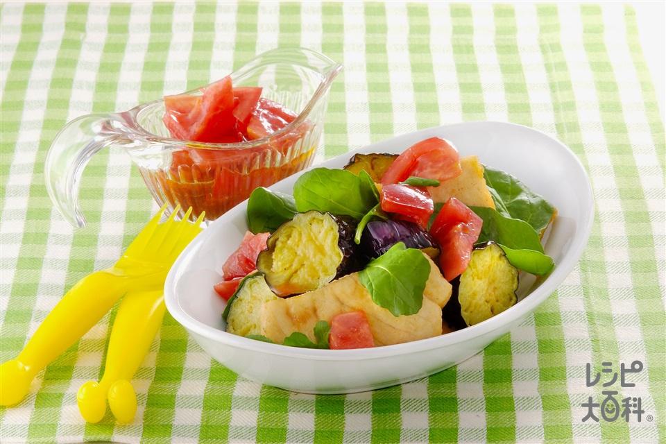 かじきとなすのトマトドレッシングサラダ(かじき+トマトを使ったレシピ)