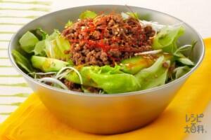 韓国風そぼろかけサラダ