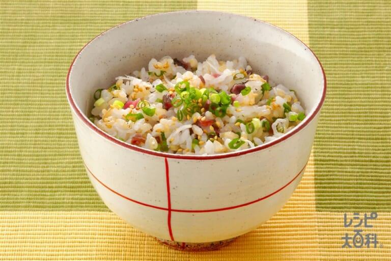 玄米入り混ぜご飯