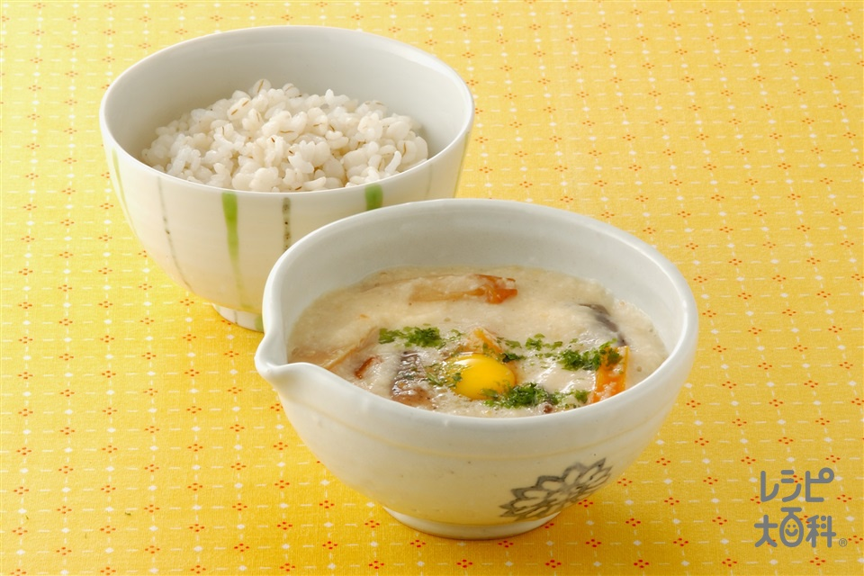 麦ご飯の五目とろろ(米+大和いもを使ったレシピ)