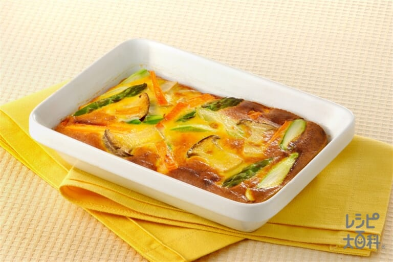 卵&野菜の豆乳オーブン焼き