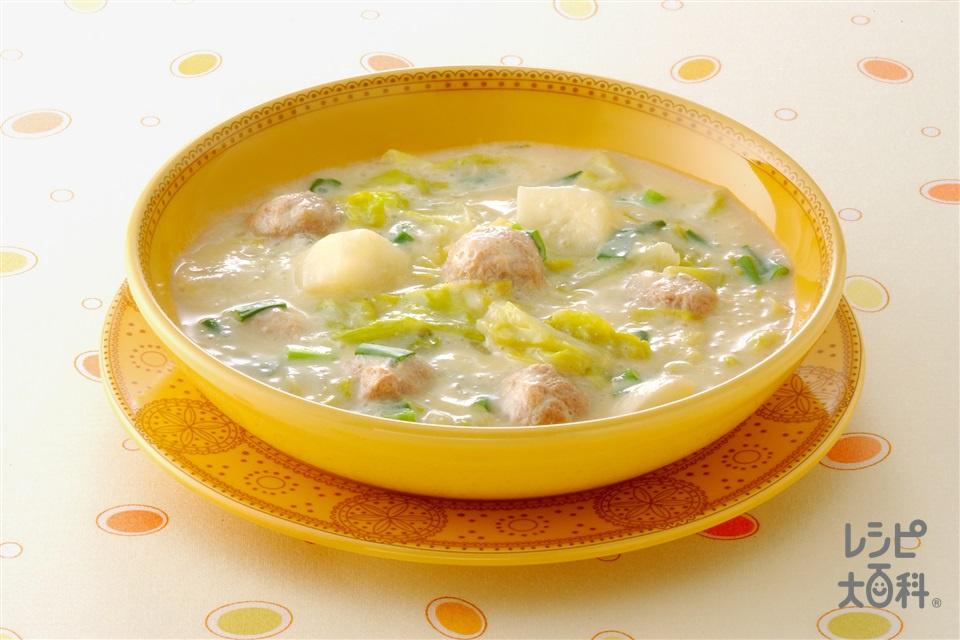 豆乳シチュー(豚赤身ひき肉+調整豆乳を使ったレシピ)