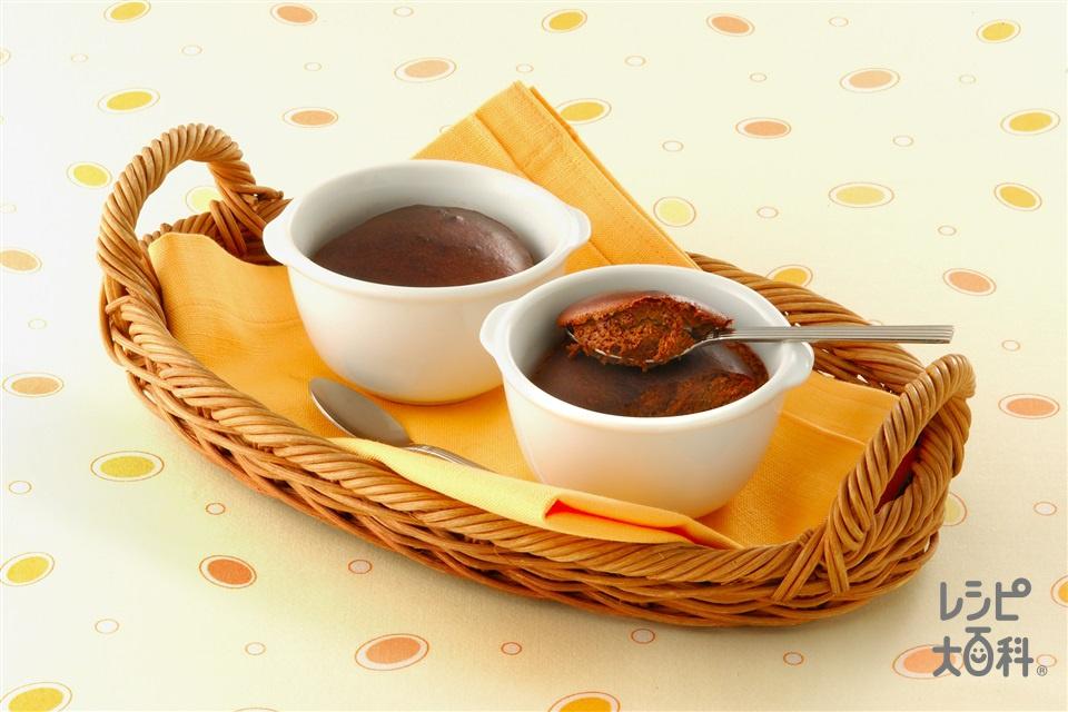 ココア入りチーズケーキ(クリームチーズ+プレーンヨーグルトを使ったレシピ)