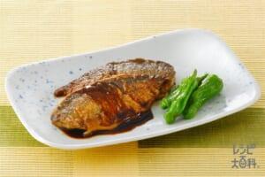 あじの黒酢鍋照り(あじ三枚おろし+ししとうがらしを使ったレシピ)