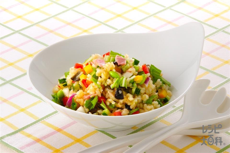 サラダ風玄米ご飯