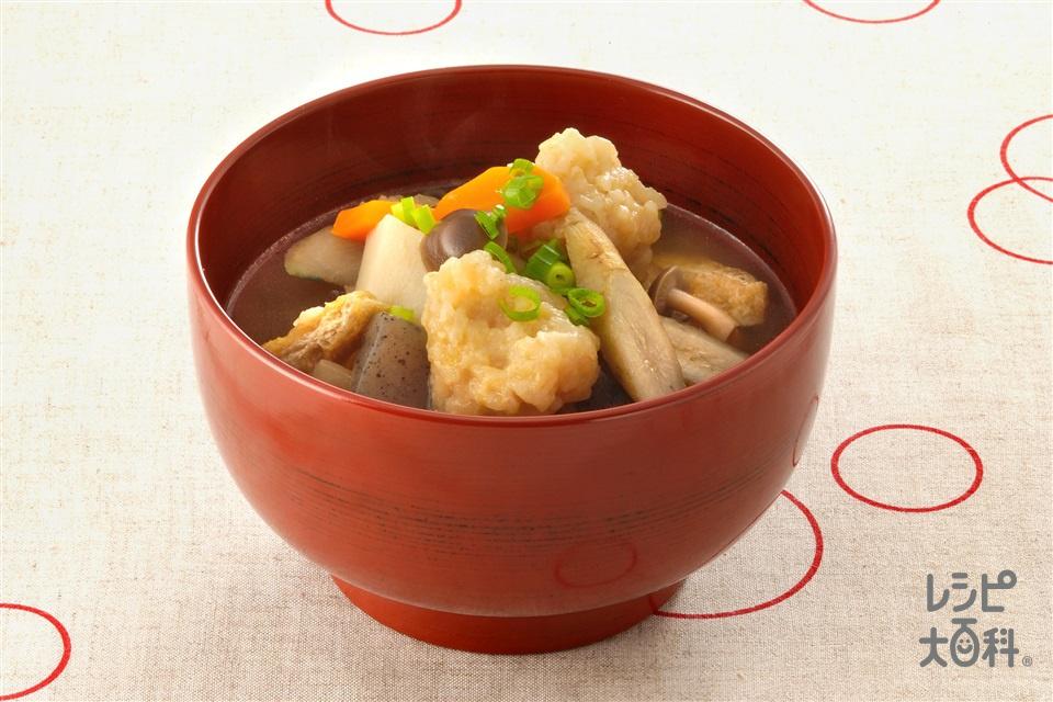 玄米すいとん(玄米+小麦粉を使ったレシピ)