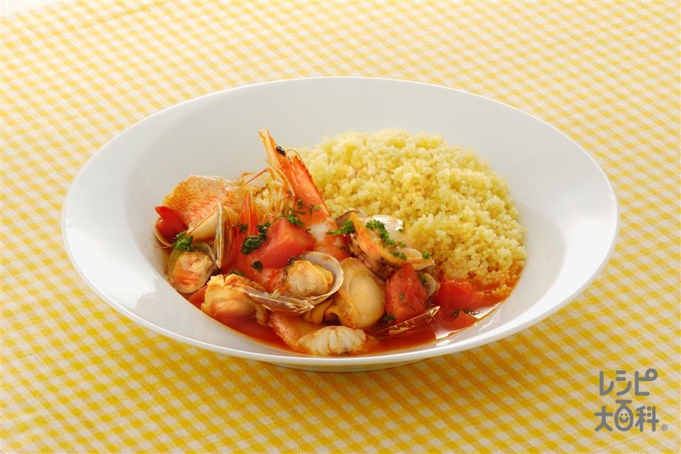 クスクスの魚介スープかけ(クスクス+A熱湯を使ったレシピ)