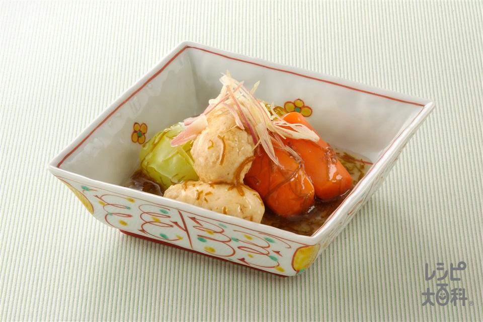 鶏だんごのもずくあんかけ(鶏ひき肉+A溶き卵を使ったレシピ)