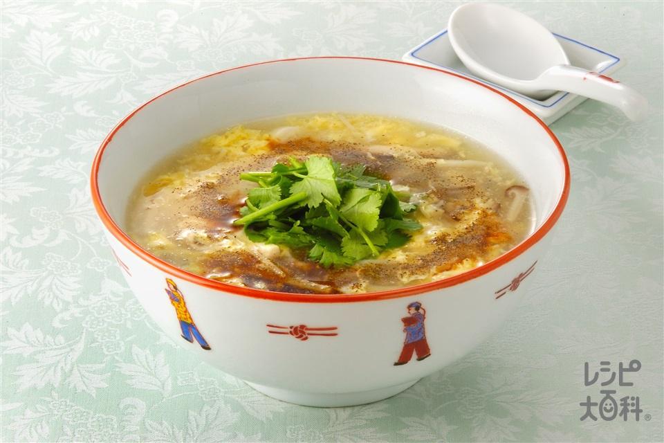 黒酢入り酸辣湯(木綿豆腐+卵を使ったレシピ)