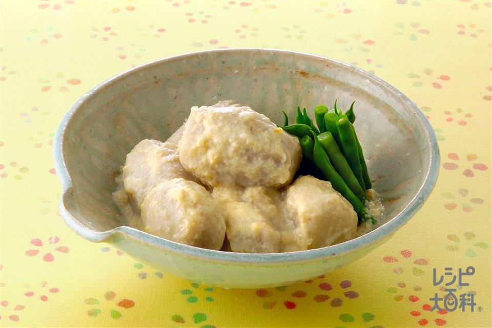 里いもの豆乳煮(里いも+A水を使ったレシピ)