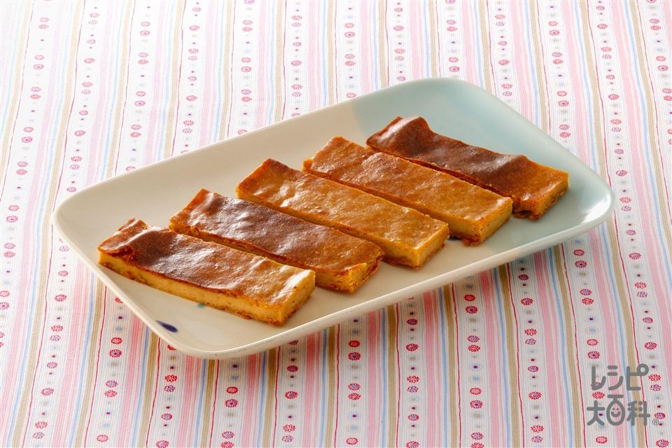 きな粉チーズケーキ(クリームチーズ+サワークリームを使ったレシピ)