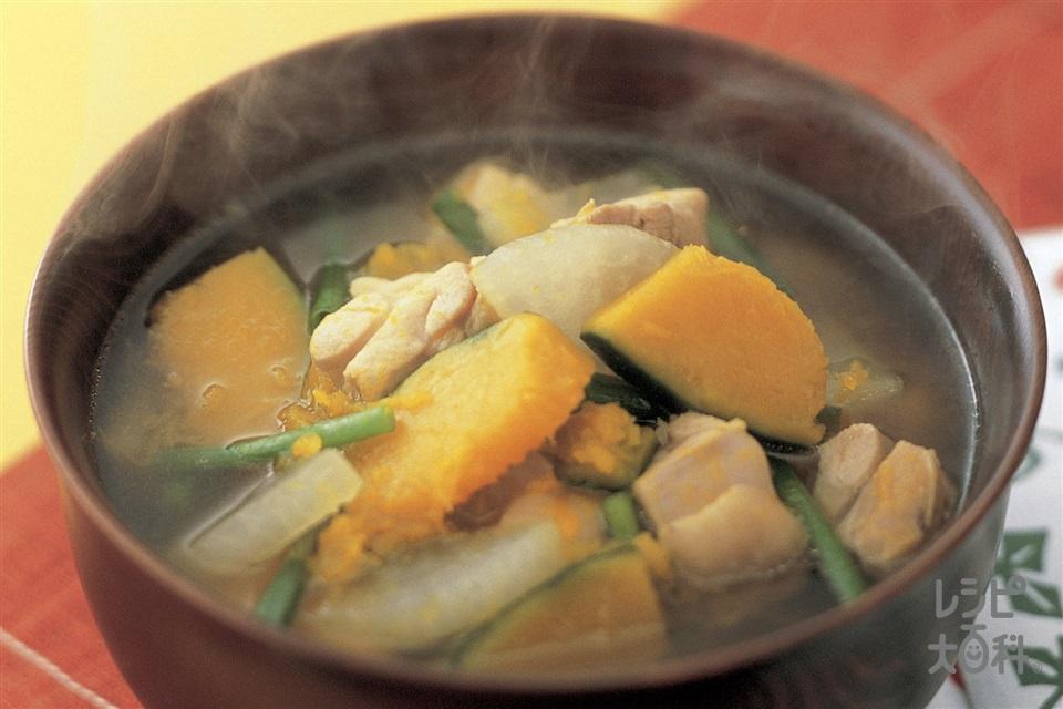 鶏とかぼちゃ・大根のおかず椀(鶏もも肉+かぼちゃを使ったレシピ)