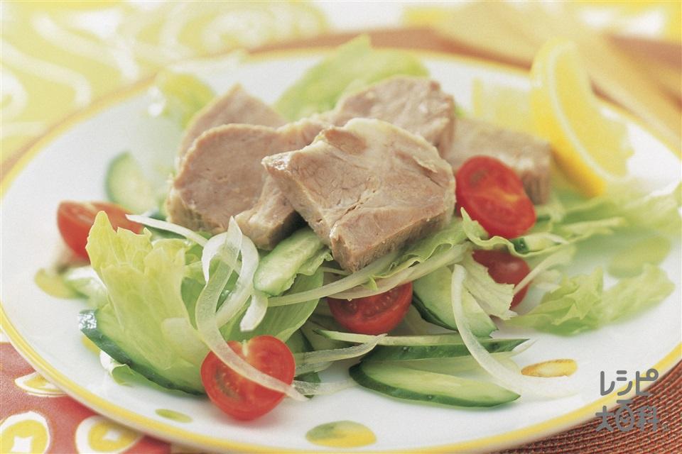 塩豚のレタスサラダ