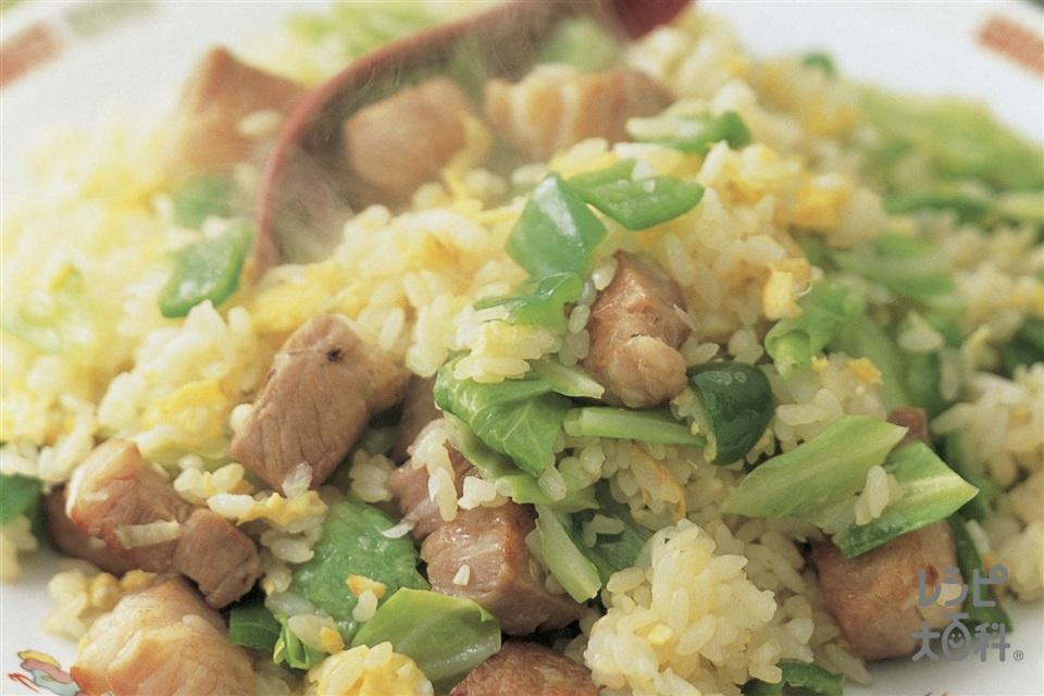 塩豚チャーハン(塩豚(肩ロース肉)+ご飯を使ったレシピ)