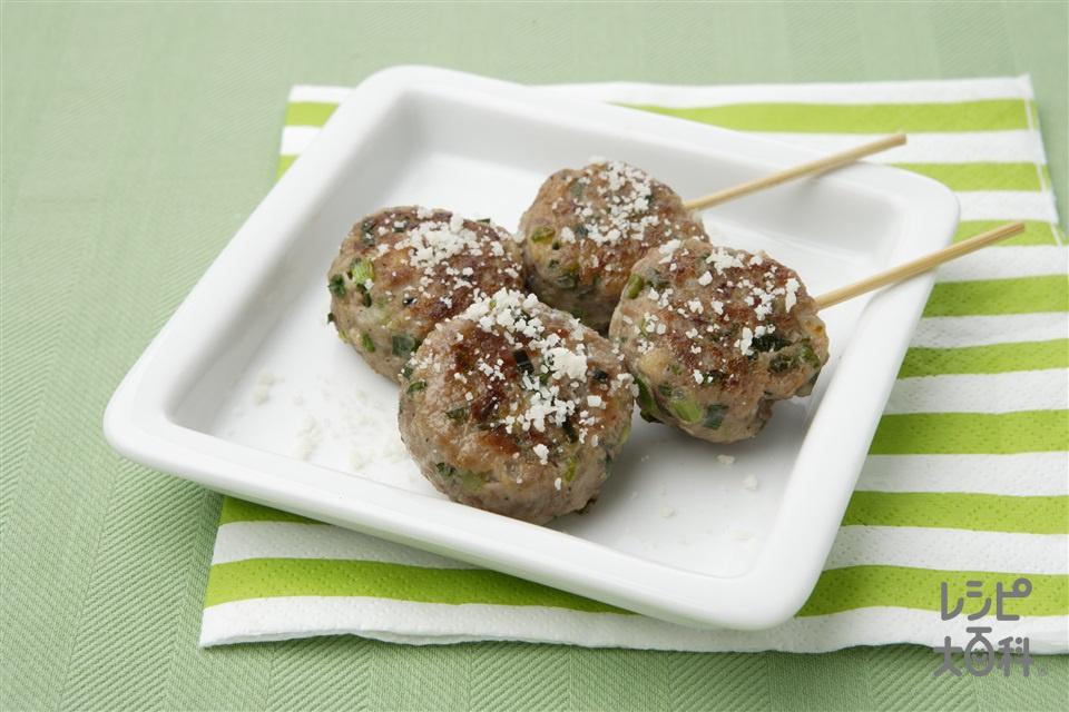 エスニック風つくね(合いびき肉+乾燥パン粉を使ったレシピ)