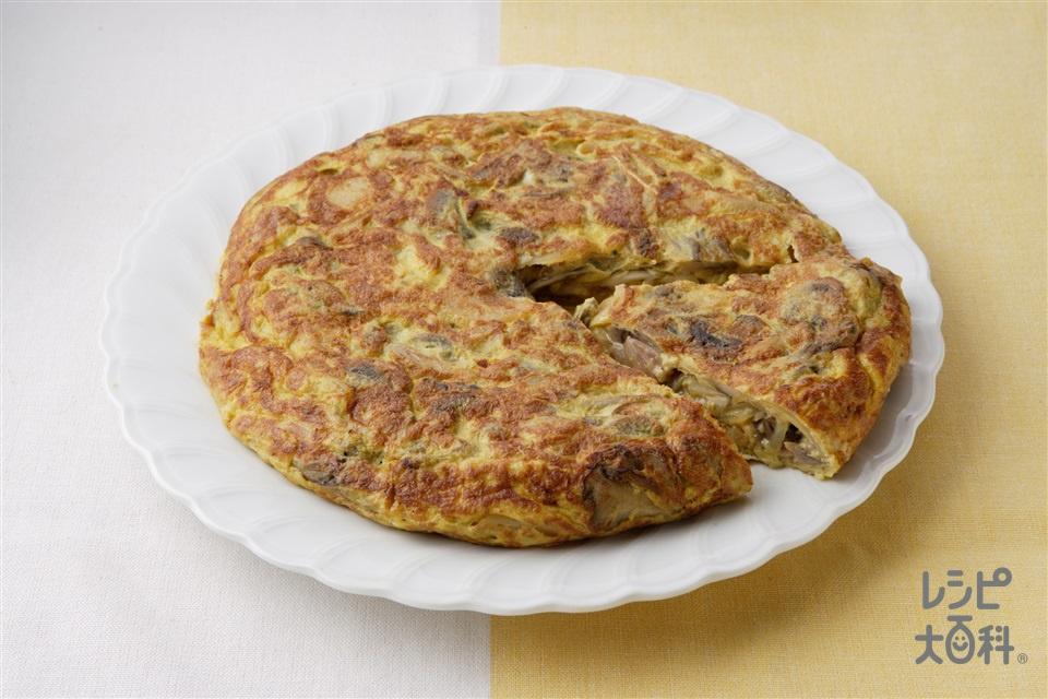 きのこたっぷりオムレツ(卵+A「ピュアセレクト マヨネーズ」を使ったレシピ)