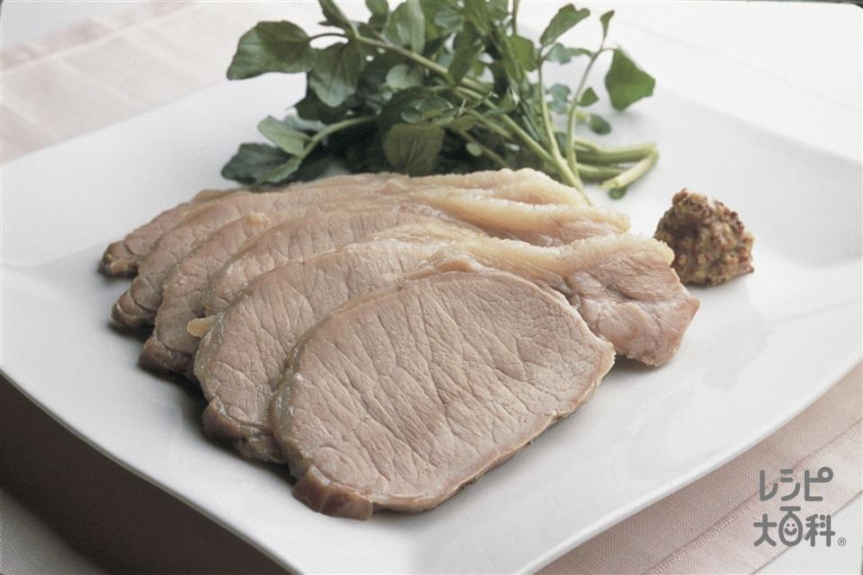 豚肉のハーブ塩包み焼き(豚ロースかたまり肉+卵白を使ったレシピ)